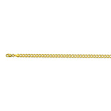 14K Yellow Gold 3.7 Curb Chain in 8 inch, 18 inch, 20 inch, 22 inch, & 24 inch