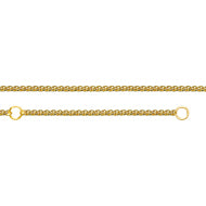 "14K Yellow Gold 16"" & 18"" Adjustable Wheat Chain 1.05 mm 2.15 grams"