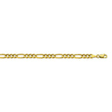 14K Yellow Gold 4.75 Figaro Chain in 8 inch, 18 inch, 20 inch, 22 inch, & 24 inch