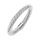 14K White Gold Twisted Rope Ring