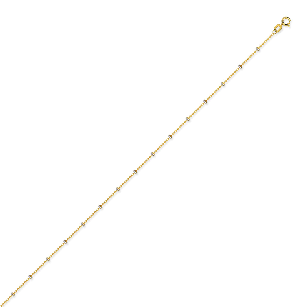 14K Two Tone Gold Constellation Style Chain in 16 inch, 18 inch, 20 inch, & 24 inch