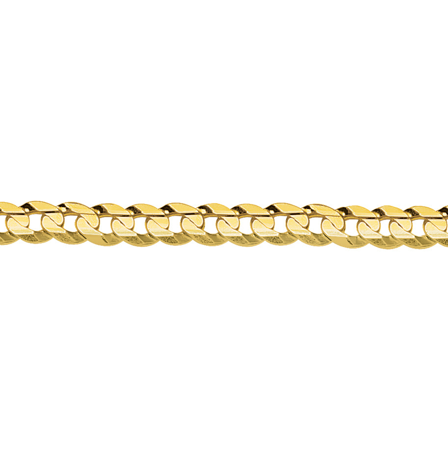 10K Yellow Gold 5.8 Curb Chain in 16 inch, 20 inch, & 18 inch
