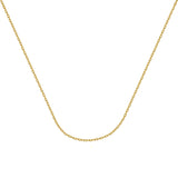 925 Yellow Sterling Silver 1.82 Forzantina Chain in 16 inch, 18 inch, 20 inch, & 24 inch