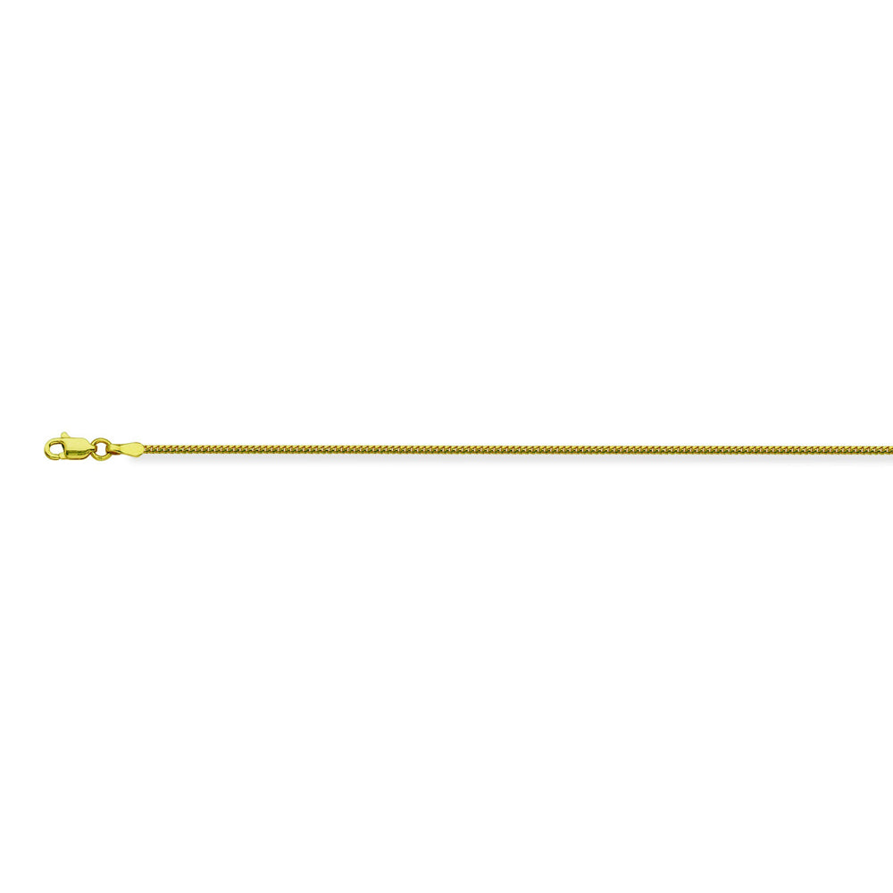 14K Yellow Gold 1.2 Franco Chain in 16 inch, 18 inch, 20 inch, & 24 inch