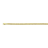 10K Yellow Gold 2 Light Rope Chain in 16 inch, 18 inch, 20 inch, 22 inch, 24 inch, & 30 inch