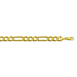 10K Yellow Gold 5.7 Figaro Chain in 8 inch, 20 inch, 22 inch, 24 inch, & 30 inch