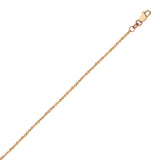 14K Rose Gold 0.95 Sparkle Singapore Chain in 16 inch, 18 inch, & 20 inch