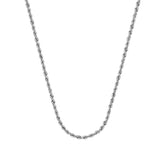 10K White Gold 2.9 Light Rope Chain in 20 inch, 22 inch, 24 inch, & 30 inch, & 30 inch