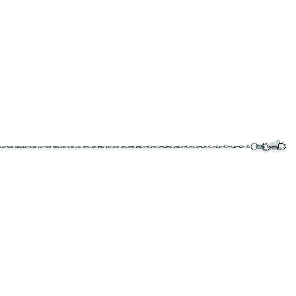 14K White Gold 1.2 Light Rope Chain in 16 inch, 18 inch, & 20 inch