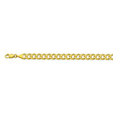 14K Yellow Gold 6.7 Curb Chain in 8.5 inch, 20 inch, 22 inch, 24 inch