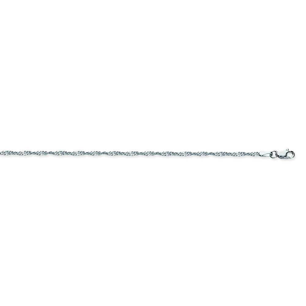 925 Sterling Silver 1.7 Singapore Chain in 16 inch, 18 inch, 20 inch, & 24 inch
