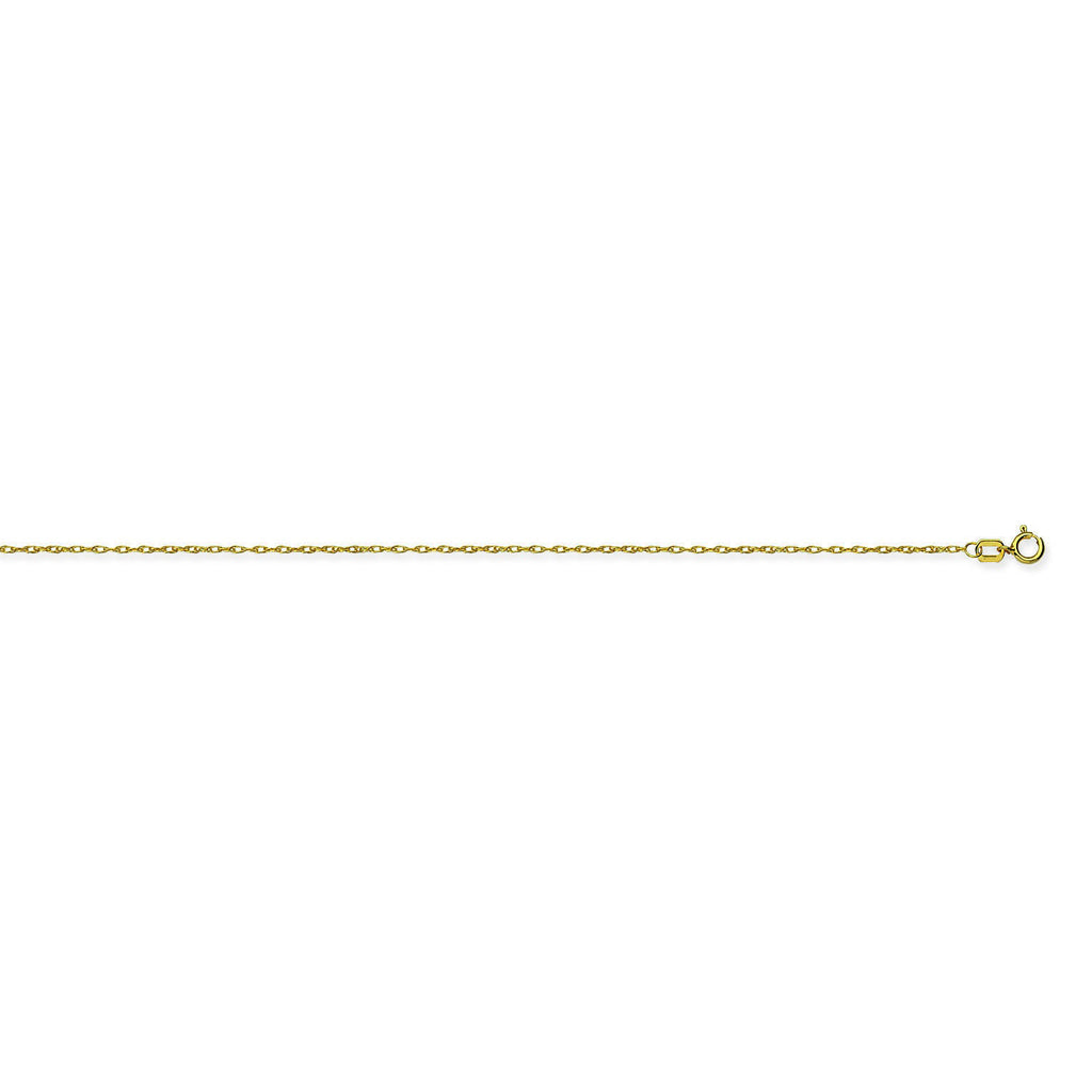 10K Yellow Gold 0.75 Rope Chain in 16 inch, 18 inch, & 20 inch