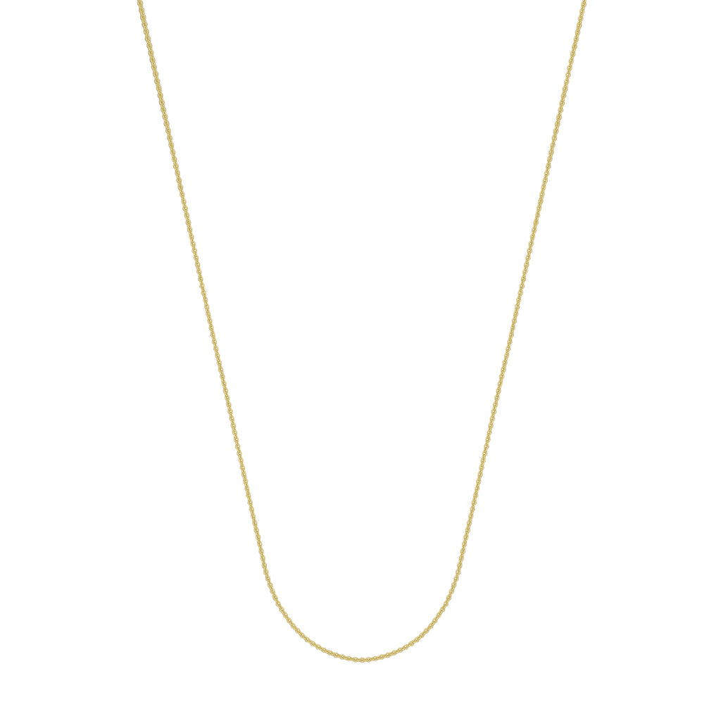 14K Yellow Gold 1.05 Cable Chain in 16 inch, 18 inch, 20 inch, & 24 inch