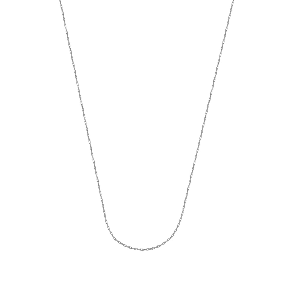 10K White Gold 0.75 Rope Chain in 16 inch, 18 inch, & 20 inch