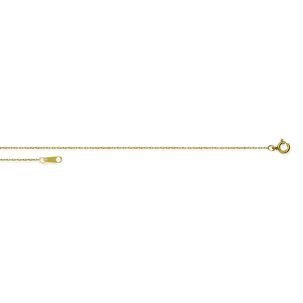 "10K Yellow Gold 0.7mm 18"" Rope Chain 0.52 grams"
