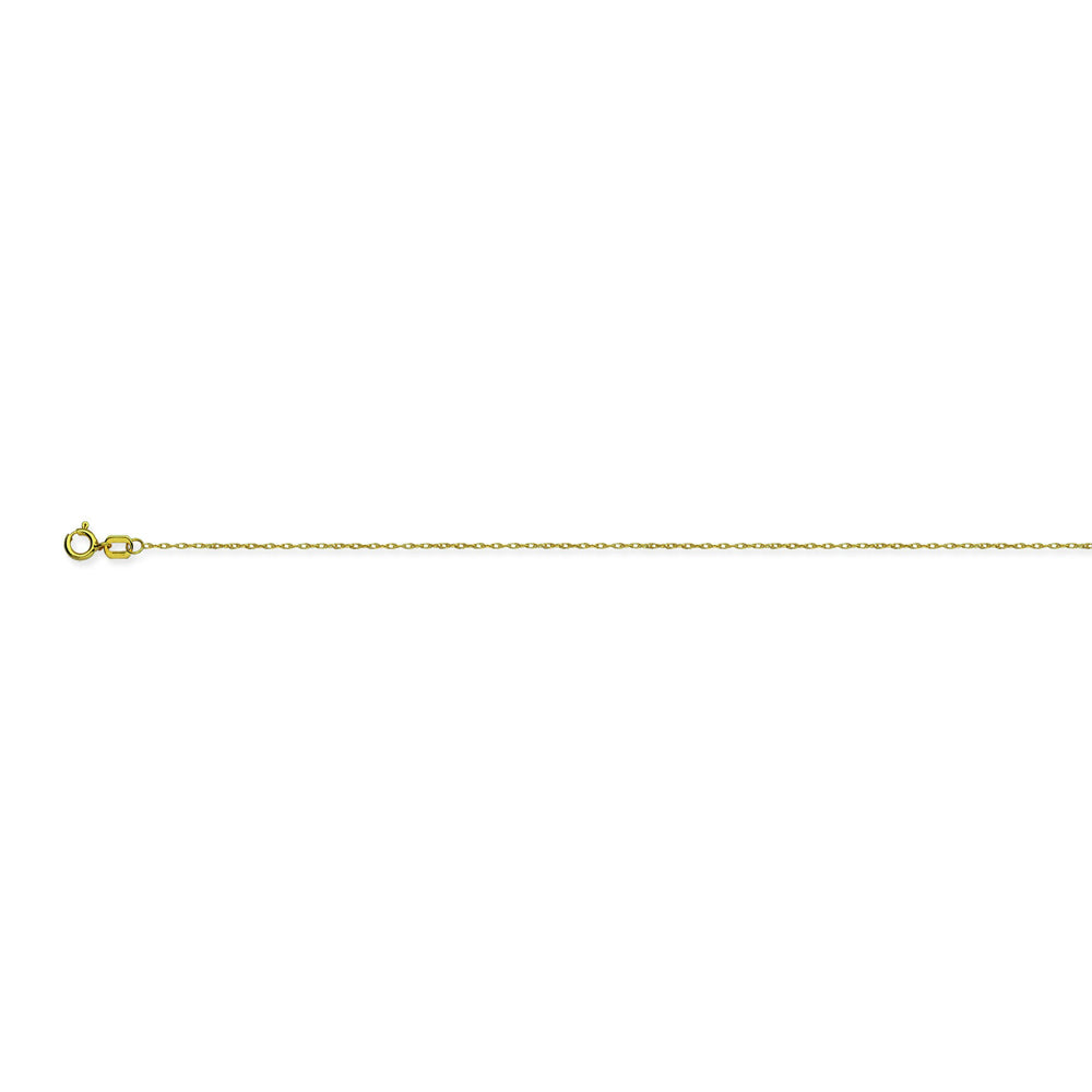 14K Yellow Gold 0.65 Light Rope Chain in 16 inch, 18 inch, & 20 inch