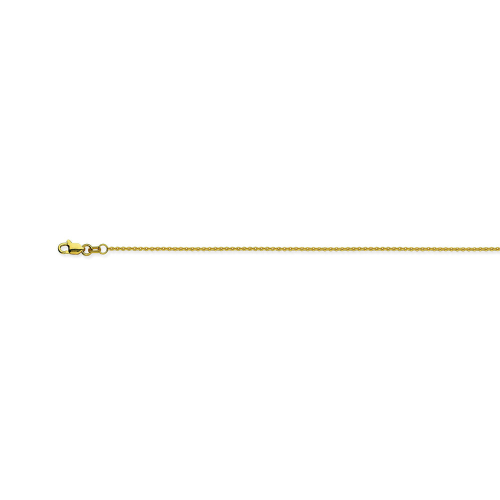 18K Yellow Gold 1.05 Cable Chain in 16 inch, & 18 inch