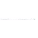 14K White Gold 2 Light Rope Chain in 16 inch, 18 inch, 20 inch, 22 inch, 24 inch, & 30 inch