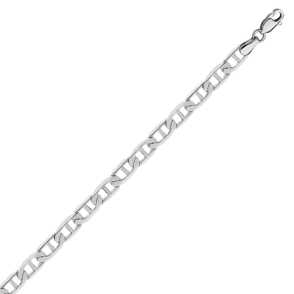 14K White Gold Mariner Chain in 18 inch, 20 inch, 22 inch, 24 inch, & 30 inch