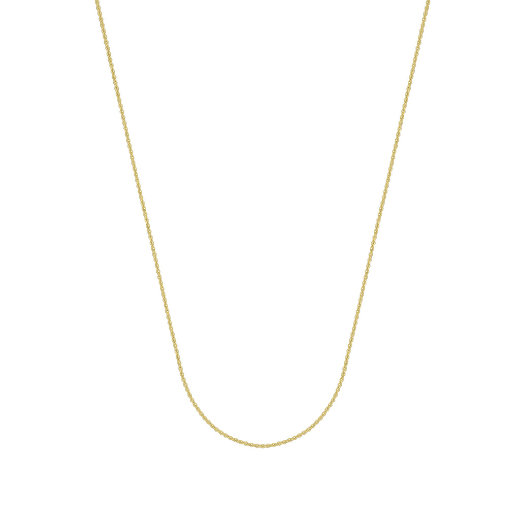 925 Yellow Sterling Silver 1.5 Cable Chain in 16 inch, 18 inch, 20 inch, & 24 inch