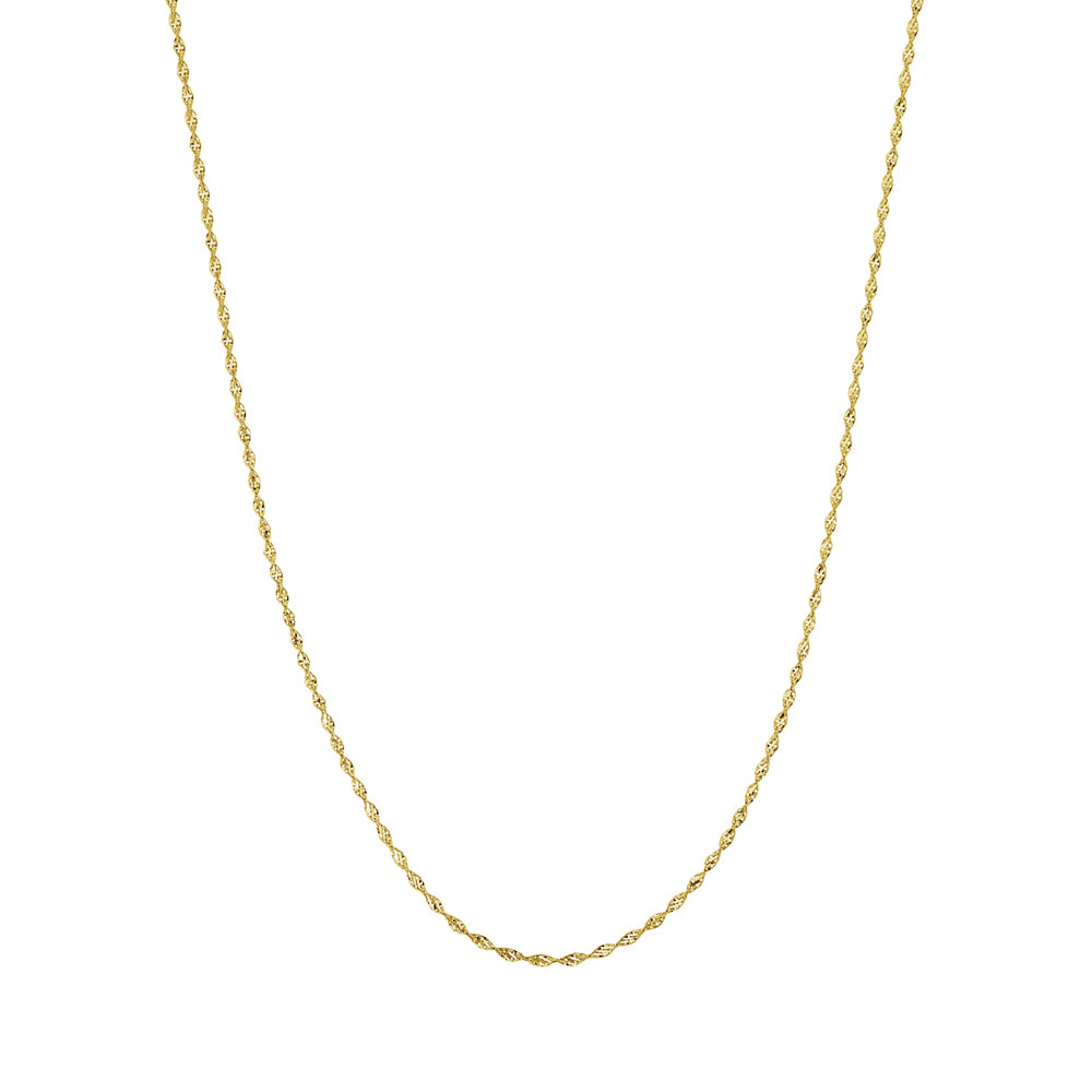 "14K Yellow Gold Dorica Chain Anklet 10"" length"
