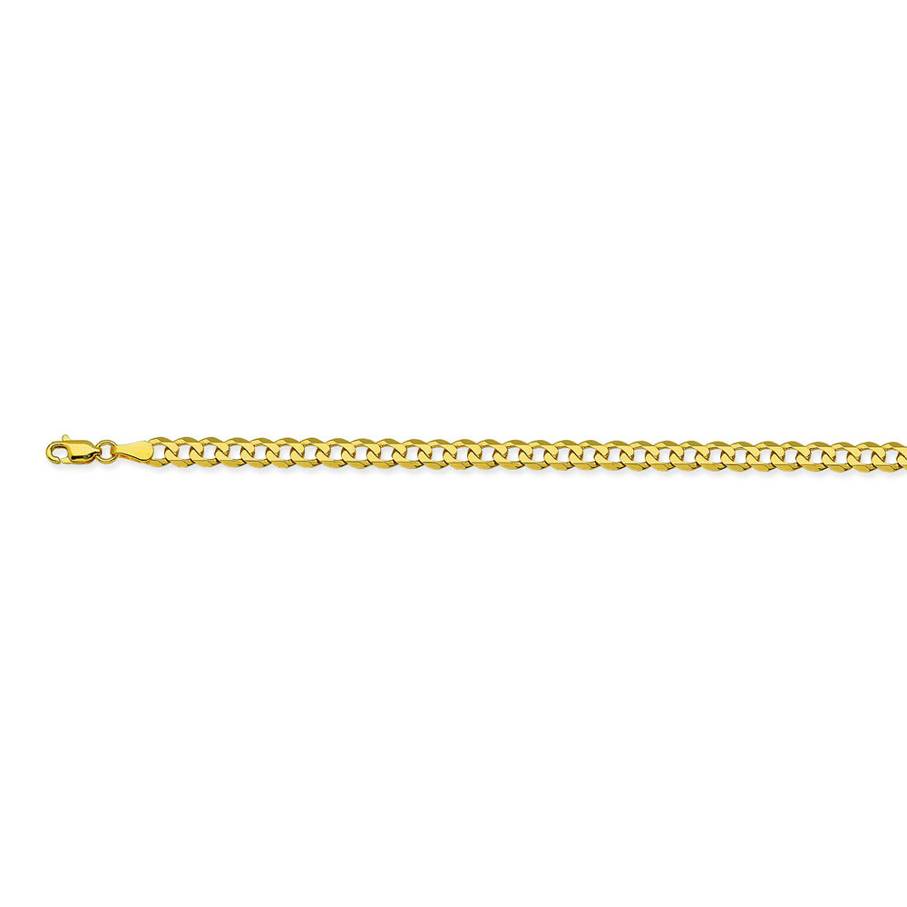 14K Yellow Gold 4.4 Curb Chain in 8 inch, 18 inch, 20 inch, 22 inch, 24 inch, & 30 inch