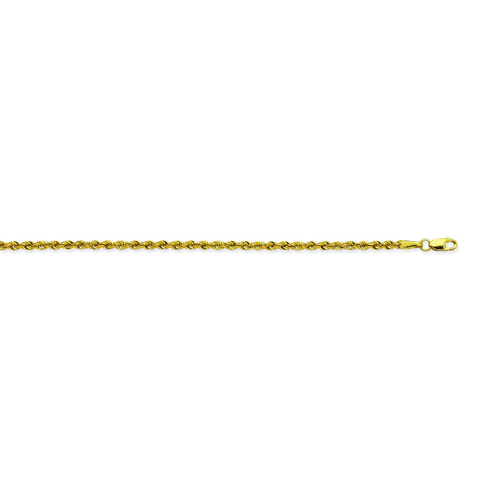 14K Yellow Gold 2.3 Light Rope Chain in 18 inch, 20 inch, 22 inch, 24 inch, & 30 inch
