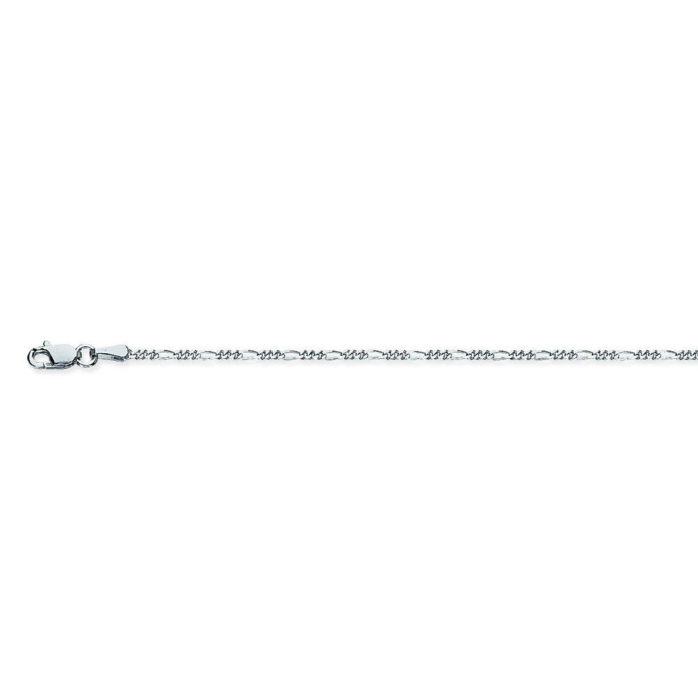 925 Sterling Silver 1.5 Figaro Chain in 16 inch, 18 inch, 20 inch, & 24 inch