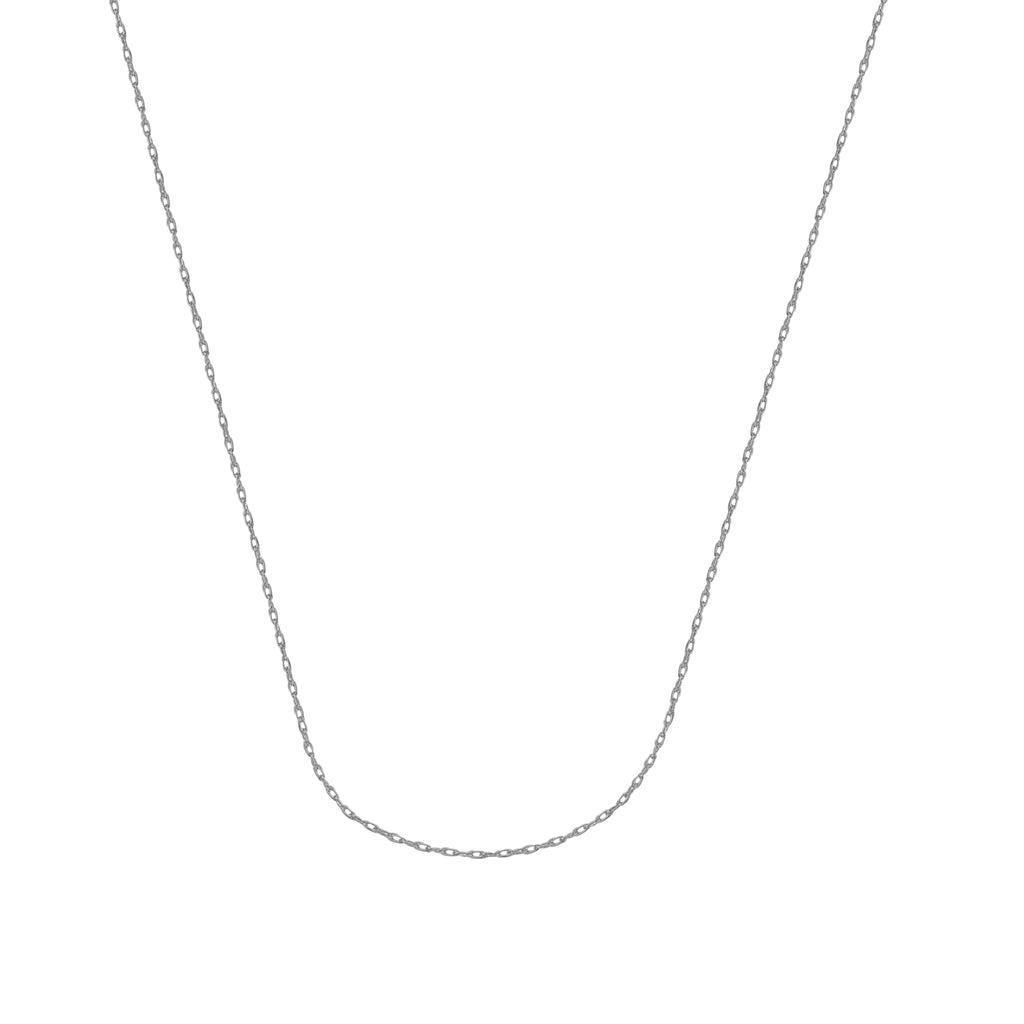 10K White Gold 1.2 Rope Chain in 16 inch, 18 inch, & 20 inch