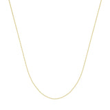 925 Yellow Sterling Silver 0.8 Box Chain in 16 inch, 18 inch, 20 inch, & 24 inch