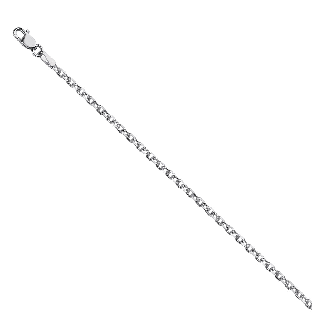 925 Sterling Silver 1.9 Diamond Cut Cable Chain in 18 inch, 20 inch, & 24 inch