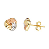 14K Yellow|Rose|White Gold Baby Love Knot Earring