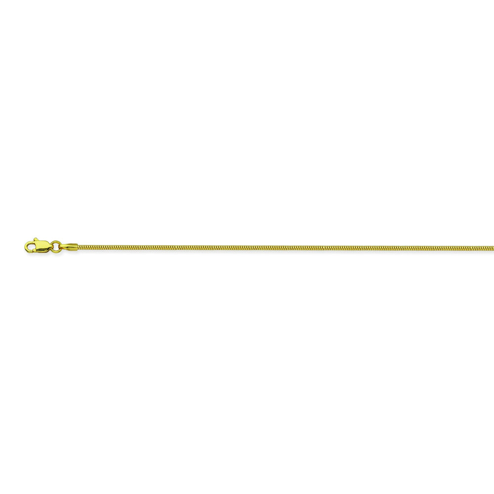 14K Yellow Gold 1.6 Snake Chain in 16 inch, 18 inch, 20 inch, & 24 inch