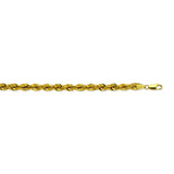 14K Yellow Gold 4.9 Light Rope Chain in 8.5 inch, 18 inch, 20 inch, 22 inch, 24 inch, & 30 inch