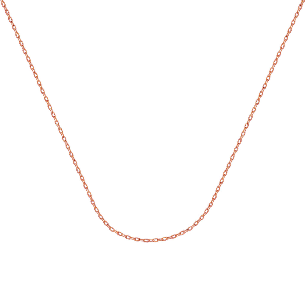 925 Rose Sterling Silver 1.82 Forzantina Chain in 16 inch, 18 inch, 20 inch, & 24 inch