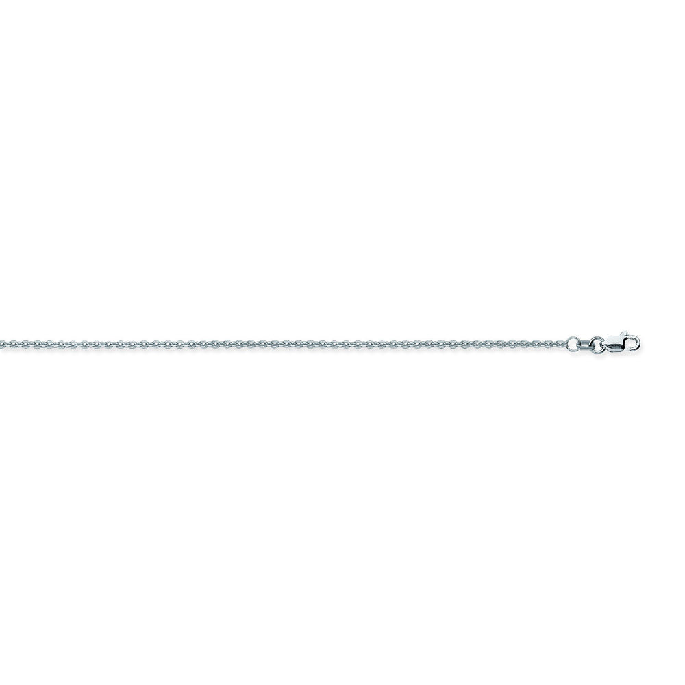 14K White Gold 1.5 Cable Chain in 16 inch, 18 inch, 24 inch, 30 inch, & 20 inch