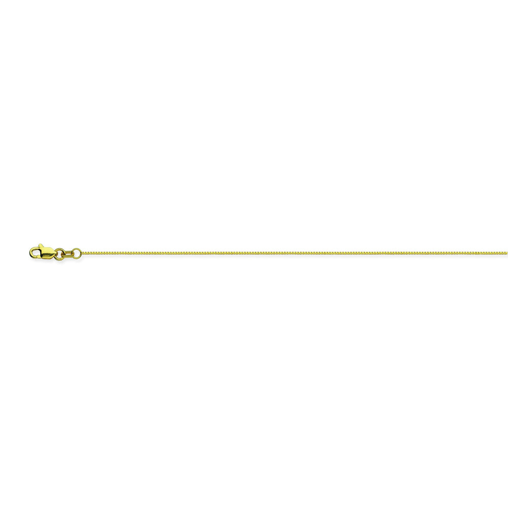 14K Yellow Gold 0.66 Box Chain in 16 inch, 18 inch, 20 inch, 22 inch, & 24 inch