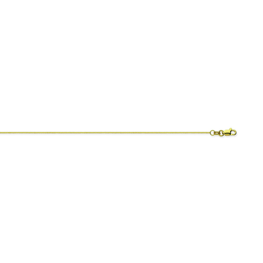 10K Yellow Gold 0.6 Box Chain in 16 inch, 18 inch, 20 inch, 22 inch, & 24 inch