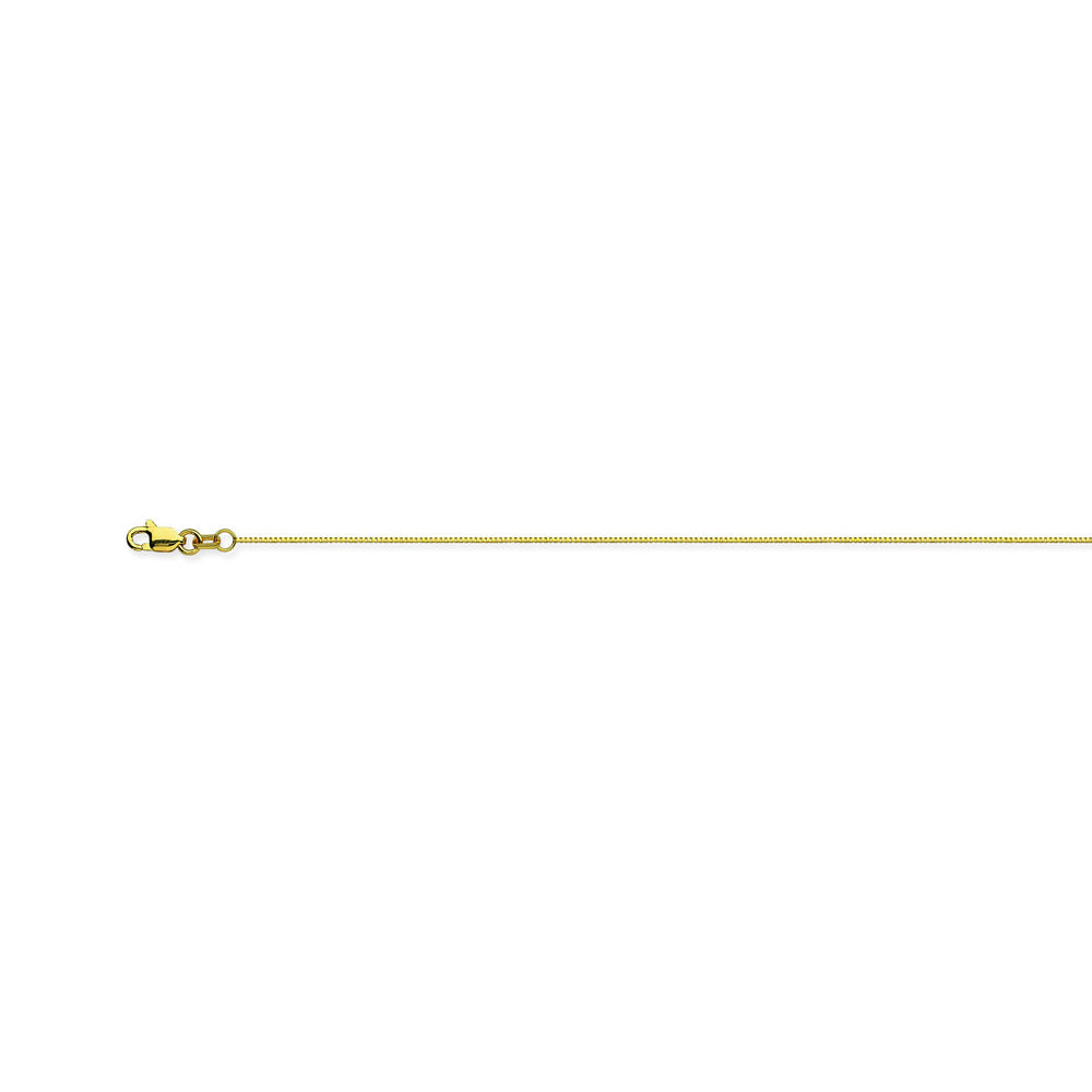 18K Yellow Gold 0.55 Box Chain in 16 inch, 18 inch, & 20 inch