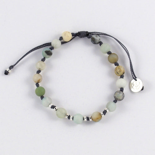 Amazonite Matte Beads Bracelet. TRUTH - CLARITY