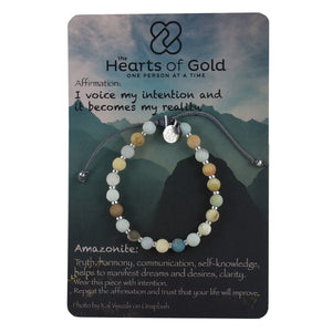 Amazonite And Sterling Silver Bracelet. TRUTH - CLARITY