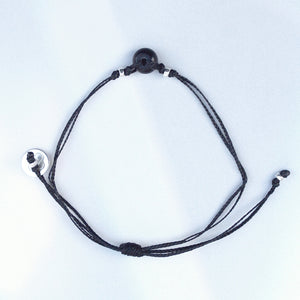 Black Onyx Bracelet. WILLPOWER - DISCIPLINE