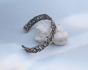 Unisex Sterling Silver Cuff