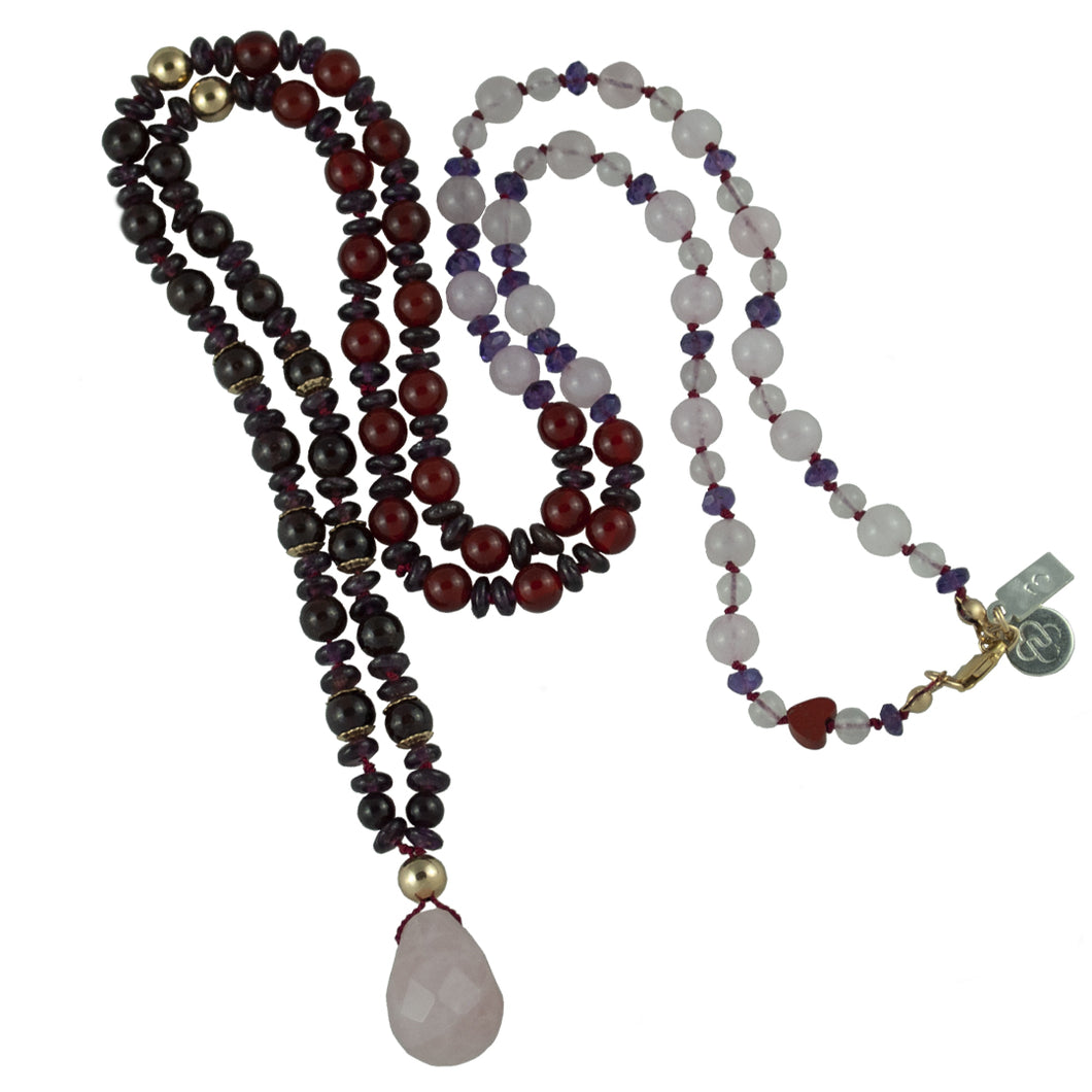 Maria's Long Gemstone Necklace 32