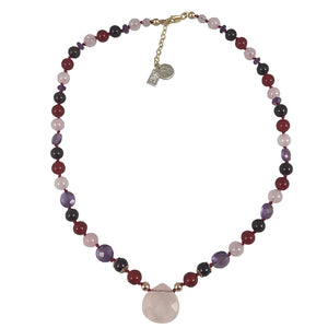 Maria's Genuine Gemstone Necklace 16""