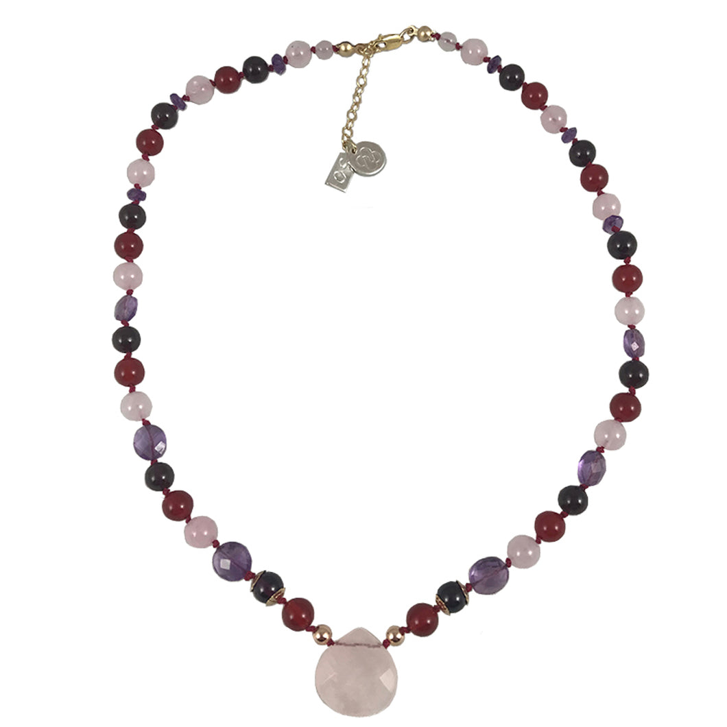 Maria's Genuine Gemstone Necklace 16