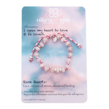 Load image into Gallery viewer, Rose Quartz Bracelet. LOVE - EMOTIONAL HEALING