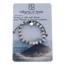 Load image into Gallery viewer, White Agate Bracelet. HARMONY - STABILITY - MENTAL PEACE