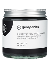 Load image into Gallery viewer, Georganics Natural Mineral-rich Toothpaste Activated Charcoal 120ml