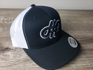 HHP Black on White cap